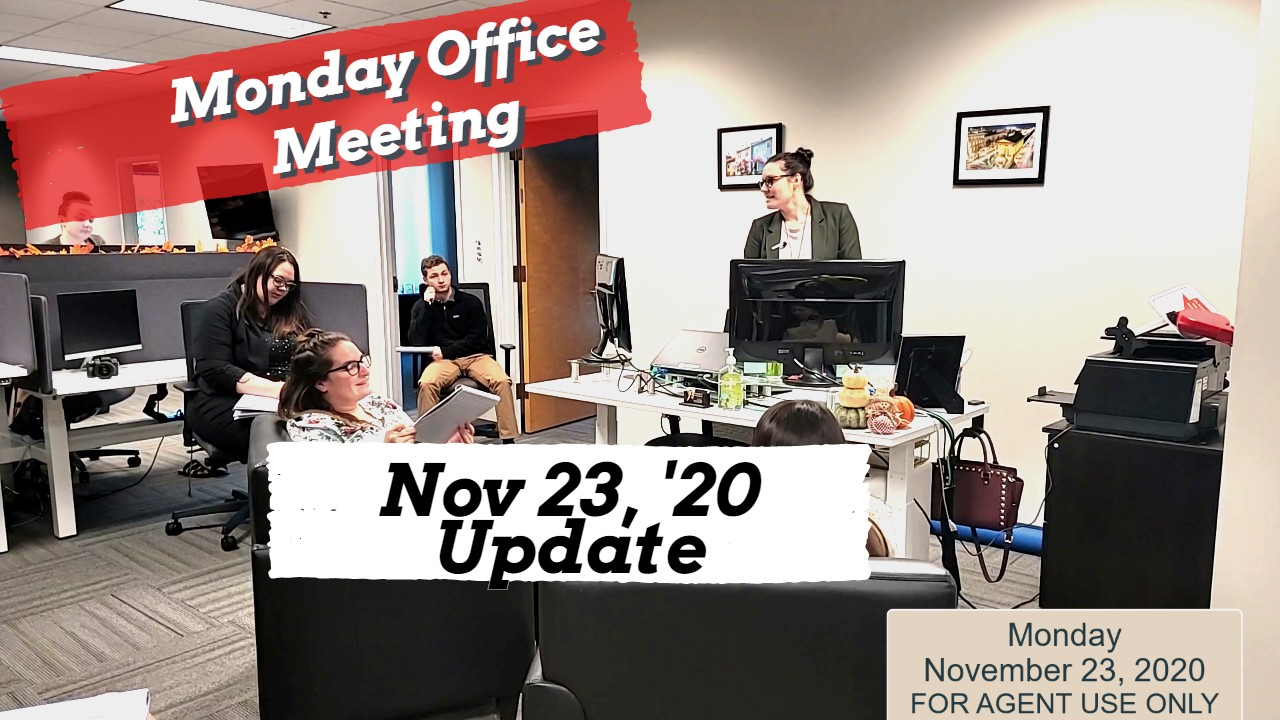 Agent Meeting 11/23 – Expectations and Ending AEP